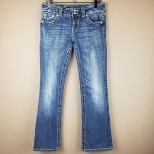 Miss Me Boot Cut Button Flap Pocket Jeans Size 28